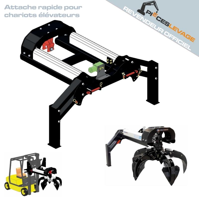 Grabit pour chariot élévateur| Bakker hydraulic - 1