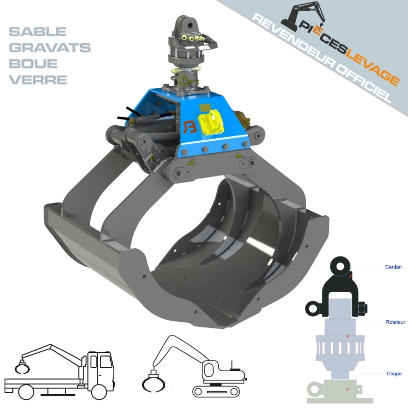 Benne preneuse BDV Bakker hydraulic